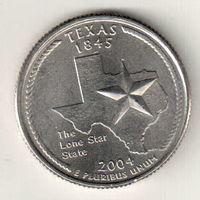 США квотер 2004 штат Техас