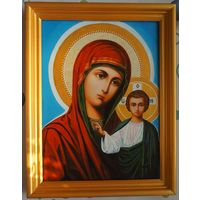 Картина - икона . Холст , акрил , покрыта лаком . 30 х 40 см.