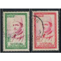 Марокко Кор 1956 Мухамед V #410,413