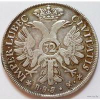 Любек 32 шиллинга 1728 38mm серебро