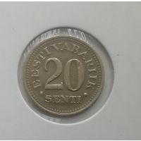 Эстония 20 центов 1935 г