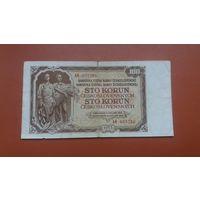 Банкнота 100 корун Чехословакия 1953