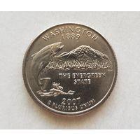 25 центов США 2007 г. штат  Вашингтон P