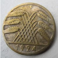 Германия. 10 рентенпфеннигов 1924 F .87