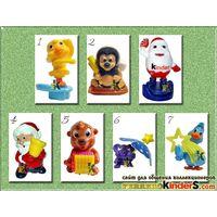 Серия игрушек из киндера новый год