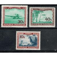 Индонезия /1947-1949/ Железная дорога / Поезд / Самолет / Спецслужбы (Экспресс) / 3 ЧИСТЫХ Марки