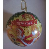 Жестянка из под чая Липтон Lipton, ( Новогодний Шарик )  Нью-Йорк