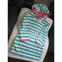 Худи. Платье-кангур банный махровый, р.110-116