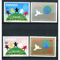 Руанда - 1986г. - Рождество и мир - полная серия, MNH [Mi 1354-1357] - 4 марки