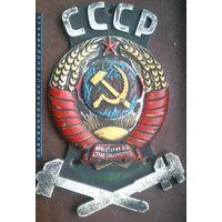 Герб СССР накладка жд