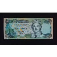 50 центов 2001 года. Багамские острова. UNC. Распродажа