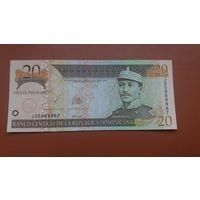 Банкнота 20 песо Доминиканская республика 2003