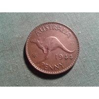 Старая Австралия, редкая. крупная монета 1944 год!
