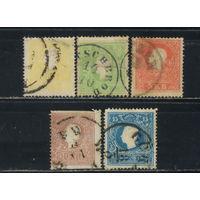Австрия Имп 1859 Франц-Иосиф Стандарт тип II #10,12-15