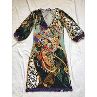 Платье 44-46 вискоза красивый фантазийный цветочный рисунок