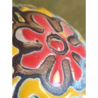 Шар декоративный Страны Востока фарфор камень дерево ? старая работа эмаль