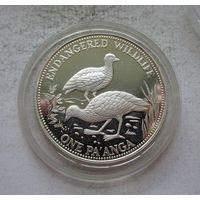 Тонга 1 паанга 1991 Вымирающие виды - Тонганский Большеног