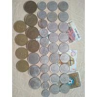 Набор погодовки Бельгия 40 шт(разные года и дворы) +марки Б1