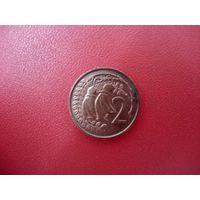 2 цента 1975 Новая Зеландия