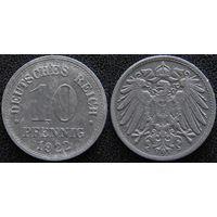 YS: Германия, 10 пфеннигов 1922, цинк, KM# 26 (1)