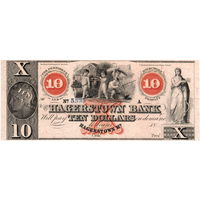 США, 10 долларов, The Hagerstown Bank (Maryland), 1800', UNC. Не частые!