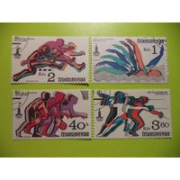 Марки.Чехословакия,спорт,олимпиада,1980 г.