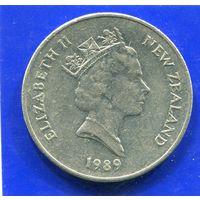 Новая Зеландия 20 центов 1989