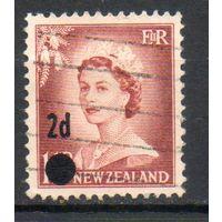 Стандартный выпуск Новая Зеландия 1958 год серия из 1 марки с надпечаткой