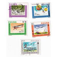 1984 Польская история полетов (Польша) 5 марок