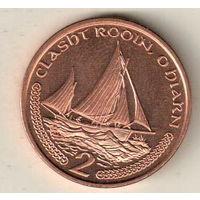 Остров Мэн 2 пенс 2002