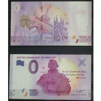 Банкнота 0 Евро сувенирная