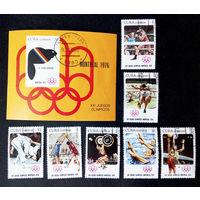 Куба 1976 г. XXI летние Олимпийские игры Монреаль 1976 Канада. Спорт, полная серия из 7 марок +Блок #0037-С1P8
