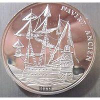 Конго. 500 франков 1991. Серебро (391)