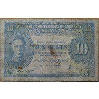 Малайзия (Малайя). 10 центов 1941 года P.8