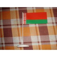 Флажок Беларуси с пластиковой подставкой
