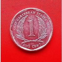 51-24 Восточные Карибы, 1 цент 2011 г.