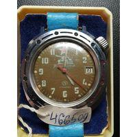 Часы командирские СССР на 17 камнях, редкие,  рабочие.