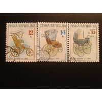 Чехия 2004 коляски полная серия