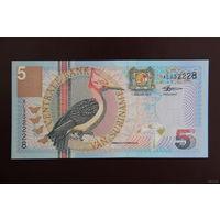 Суринам 5 гульденов 2000 UNC