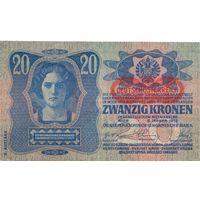 Австро-Венгрия, 20 крон 1913 года.