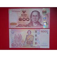 Таиланд Банкнота 100 батов 2015 г Король Рама IX unc пресс