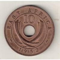 Британская Восточная Африка 10 цент 1952