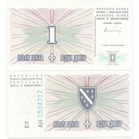 Босния и Герцеговина 1 динар 1994 года UNC p39