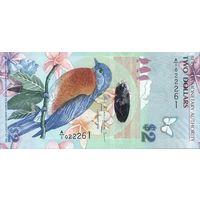 Бермудские о-ва 2 доллара 2009 UNC