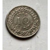 Суринам 10 центов, 1966 2-12-60