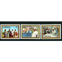 Либерия - 1978г. - Визит Джимми Картера в Либерию - полная серия, MNH [Mi 1072-1074] - 3 марки
