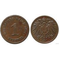 YS: Германия, Рейх, 1 пфенниг 1896A, KM# 10  (2)