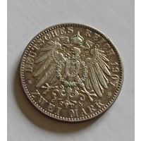 2 марки 1907 Саксония не частый номинал