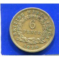 Британская Западная Африка 6 пенсов 1938