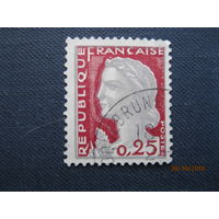Марка Франция 1960 год Marianne